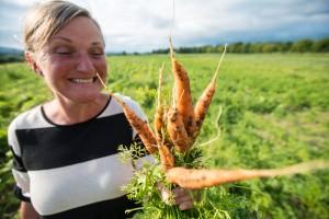 Les artikkelen Blir glad av grønnsaker i PD. Foto: Dag Jenssen