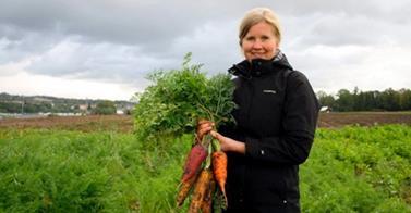 Og så fikk vi den herlige avlinga i år! Foto: NRK Telemark